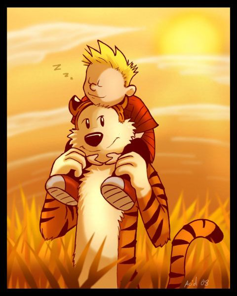 Calvin-Hobbes-sunset