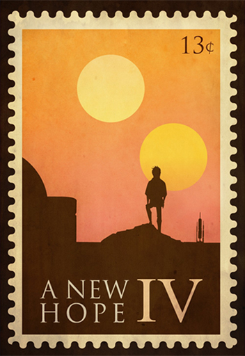 Star Wars A New Hope Stamp Design