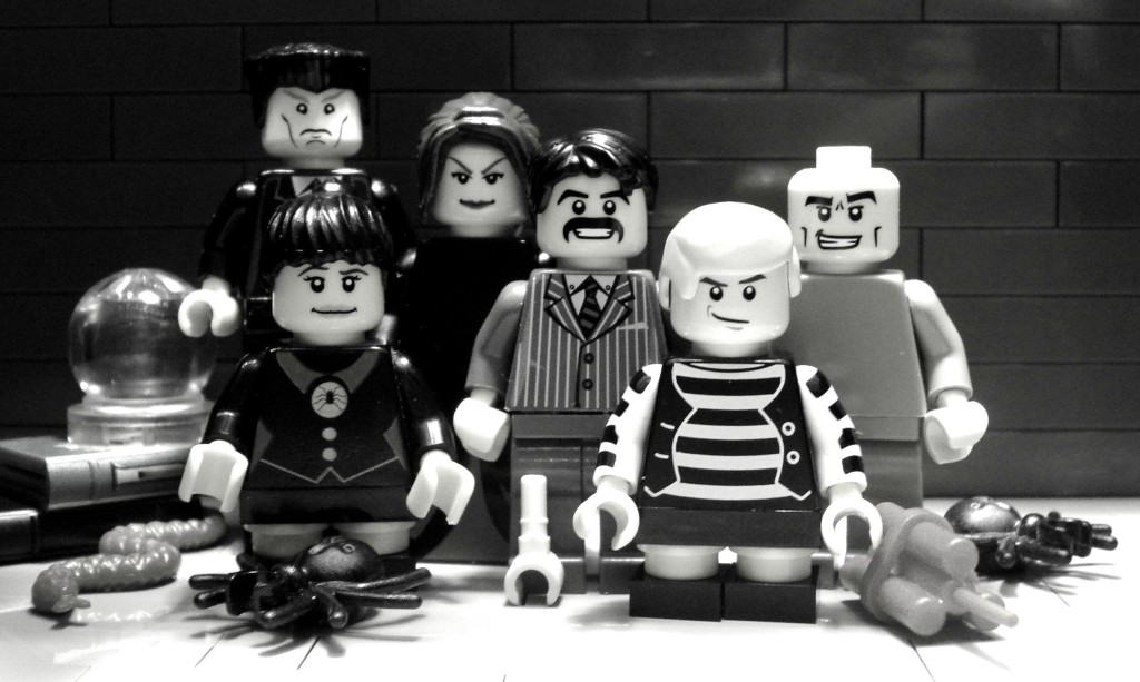The Addams Family as LEGOs