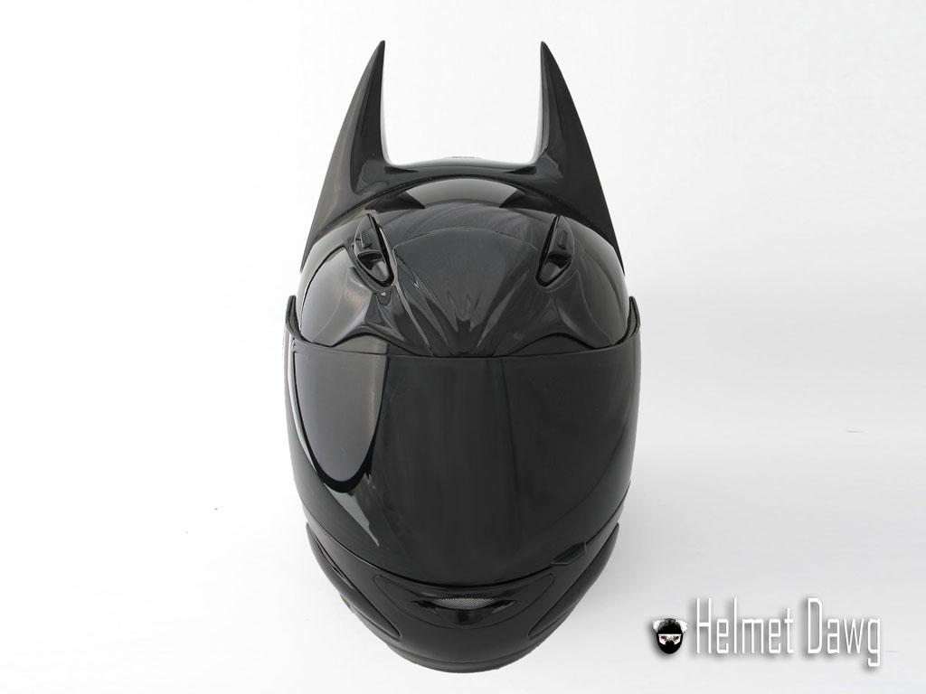 Dark Knight Motorcycle Helmet front view from Helmet Dawg