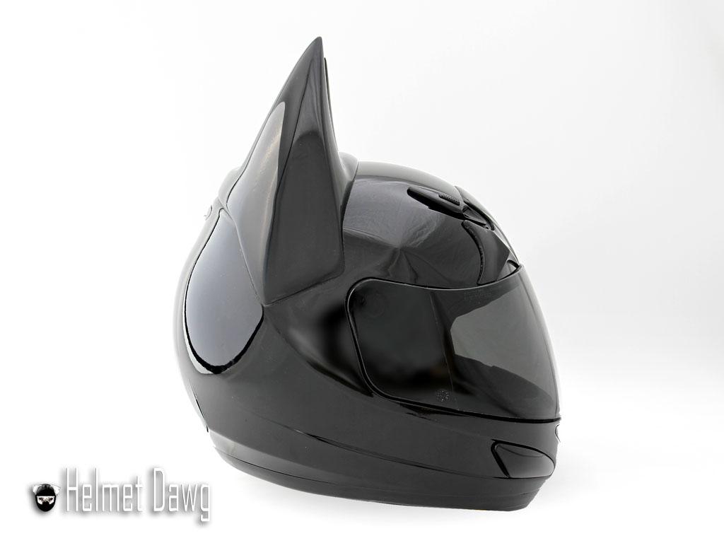 Dark Knight Motorcycle Helmet sice view from Helmet Dawg