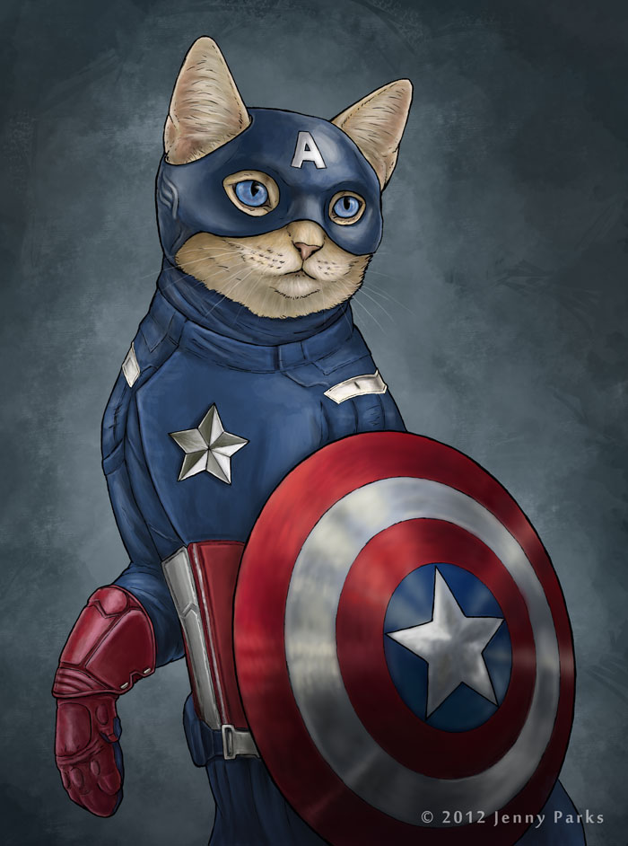 Captain America as Capcat