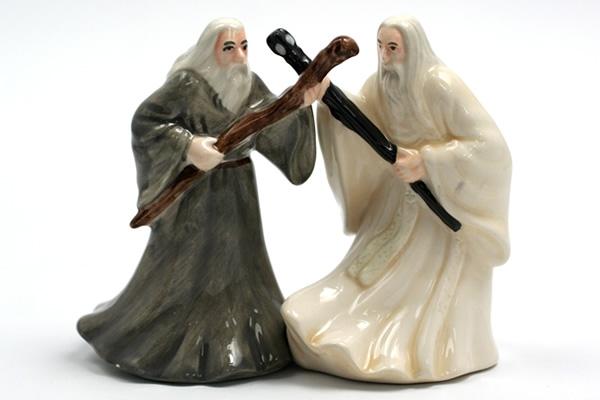 Gandalf and Saruman Salt & Pepper Set
