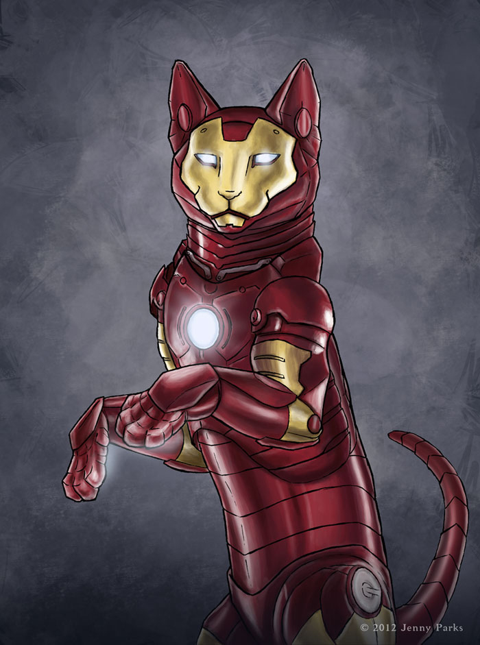 Iron Man as Iron Cat