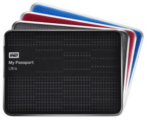 My Passport Ultra in black, gray, blue and red
