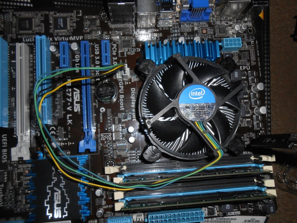 Heat Sink installed
