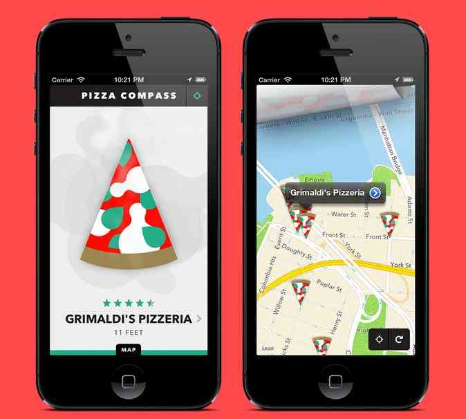 the Pizza Compass app, available now