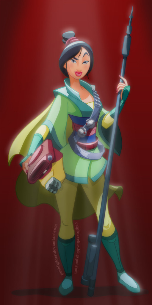 Star Wars Disney Princess Mulan as a Bounty Hunter