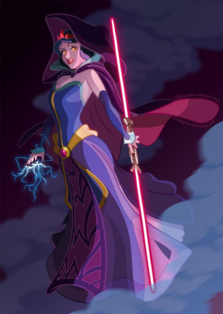 Snow White as a Sith Marauder