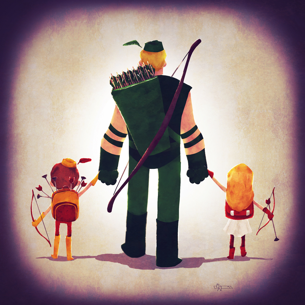 Green Arrow and his kids