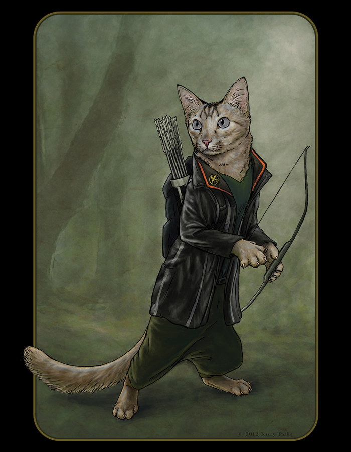 Katniss of The Hunger Games as Catniss