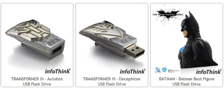 infoThink USB Autobots, Decepticons, and Dark Knight Rises