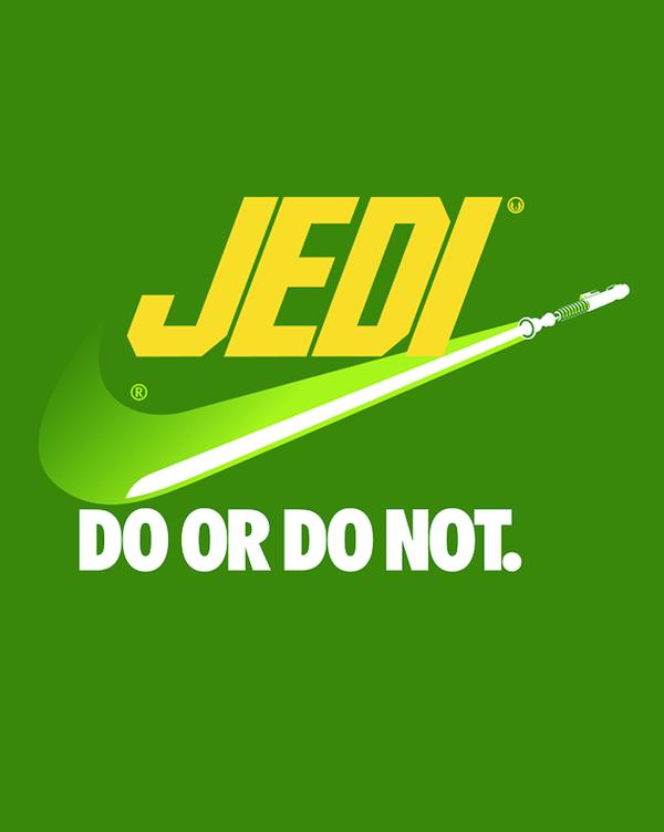 Jedi Nike mashup: Do or Do Not