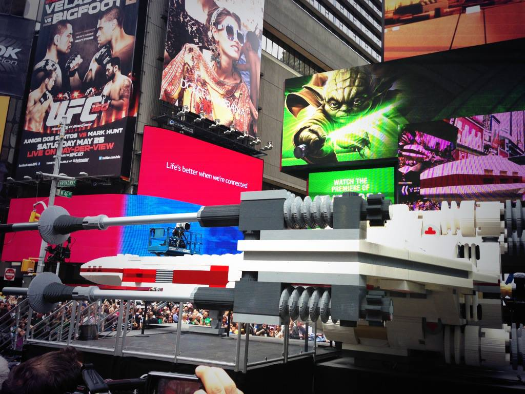 Side of the X-Sing in Times Square