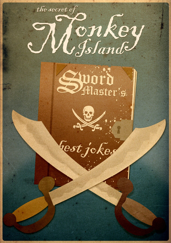 Minimalist poster The Secret of Monkey Island: Sword Master's Chest Jokes