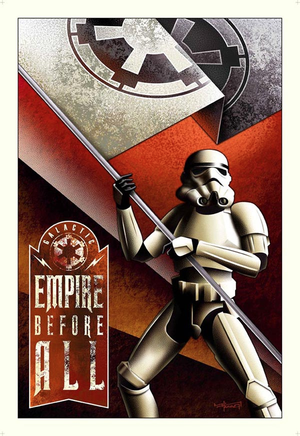 Propaganda posters: Galactic Empire Before All
