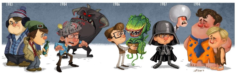 Rick Moranis in Ghostbusters, Flintstones, Spaceballs