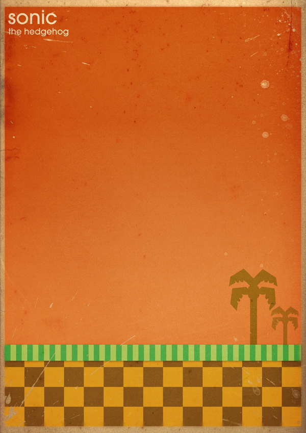 Minimalist poster Sega's Sonic the Hedgehog level design