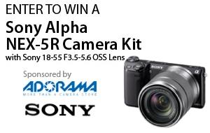 Sony NEX 5-R giveaway