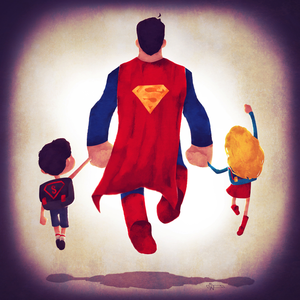 Superman and his kids