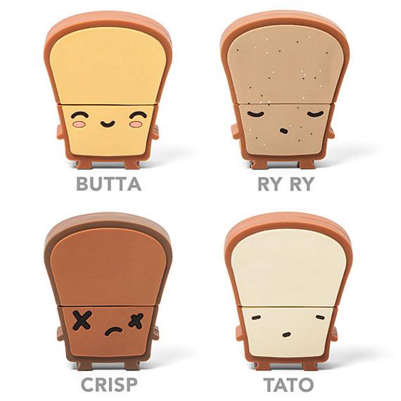 Toast USB Drives: Butta, Ry Ry, Crisp and Tato