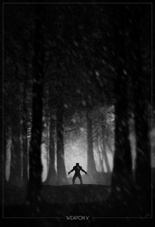 Wolverine escaping the Weapon X project