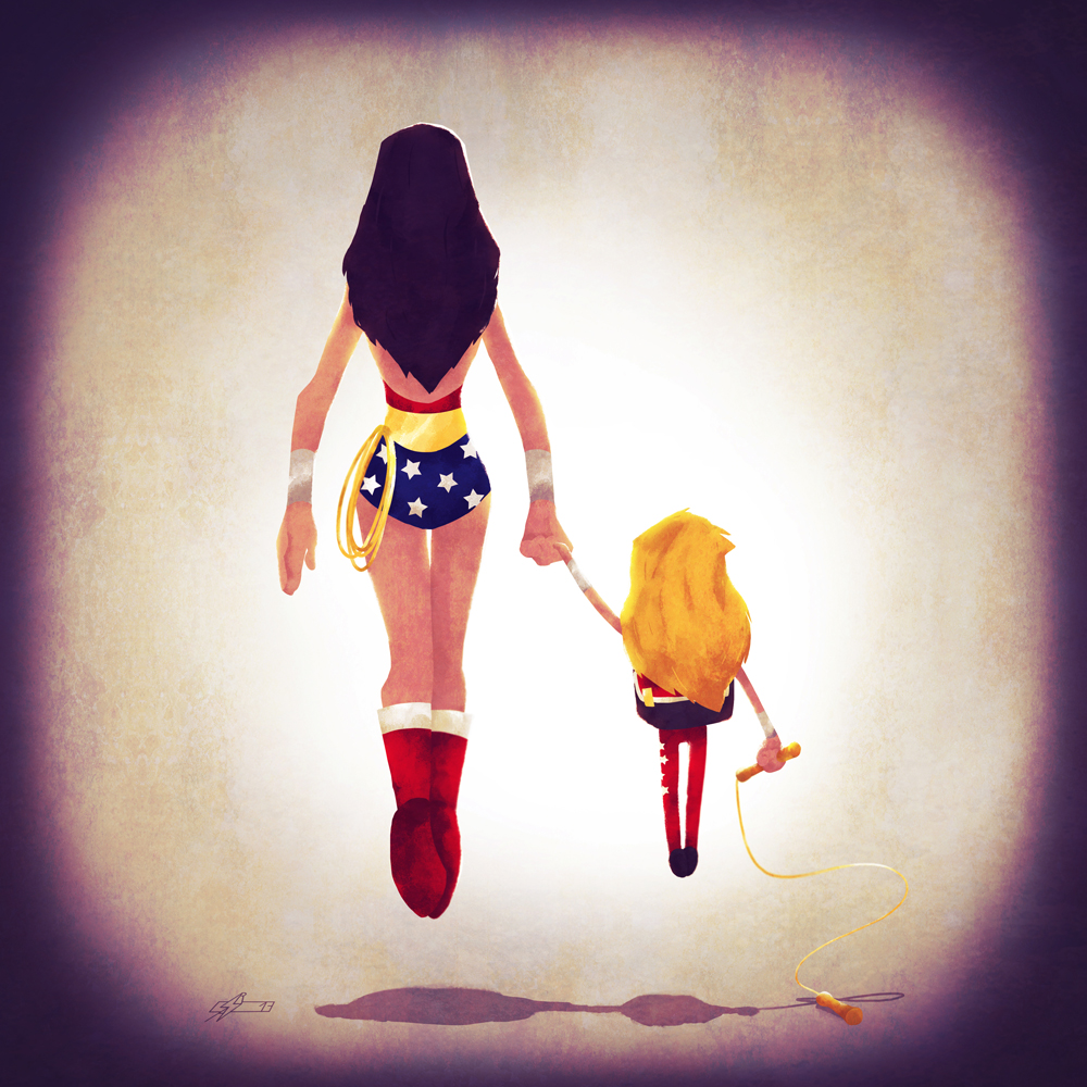 Wonder Woman and her daughter