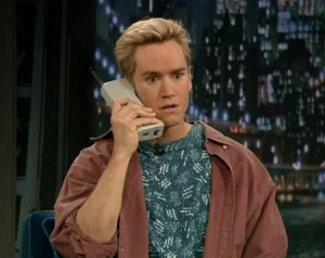 Saved by the Bell Zack Morris giant phone on Jimmy Fallon