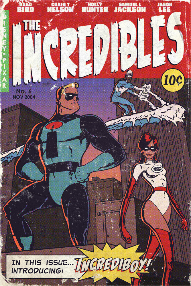 The Incredible in a pulp comic