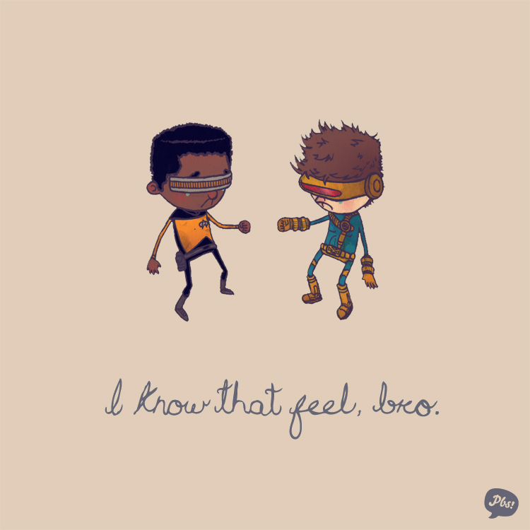 Geordi La Forge and Cyclops