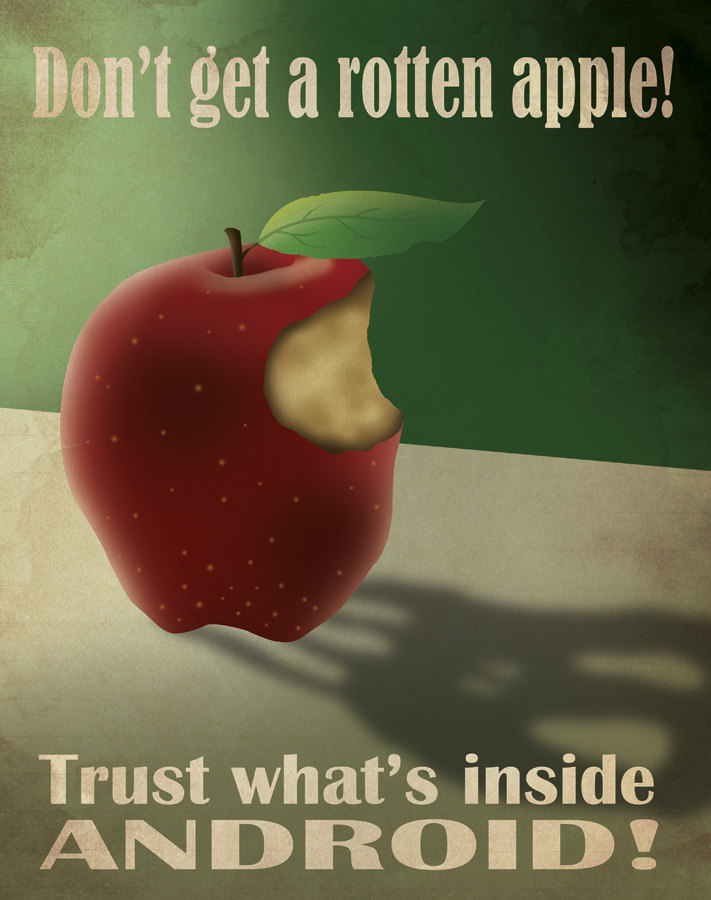 Android Propaganda: Don't get a rotten Apple!