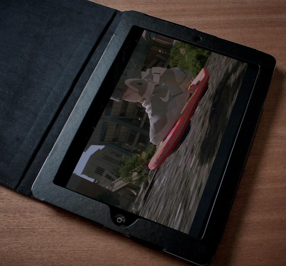 Back to the Future iPad Case opened