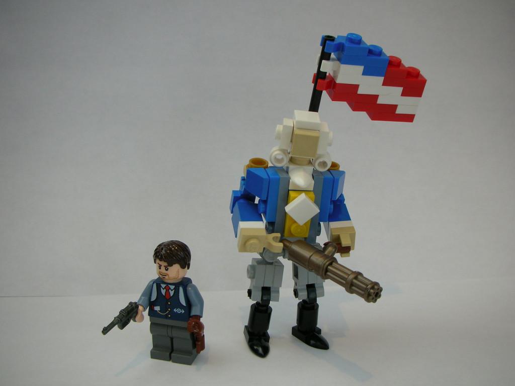 Booker DeWitt and a motorized Patriot
