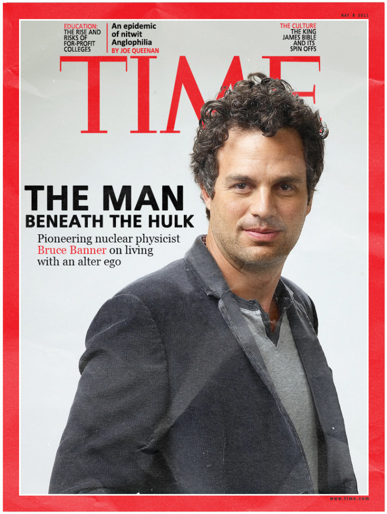 Bruce Banner Time Magazine cover