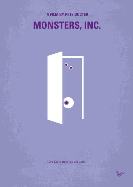 Monsters Door with eyes