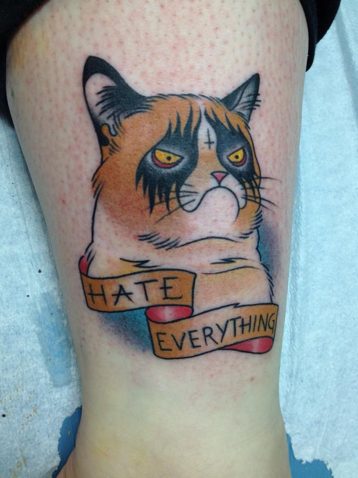 Pet Tattoos: Grumpy Cat