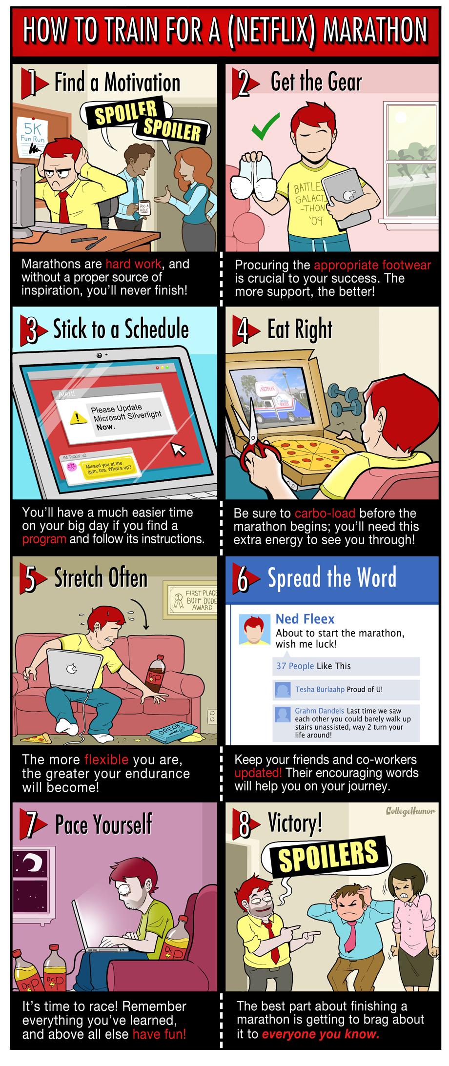 Protip: How to Train for a Netflix Marathon