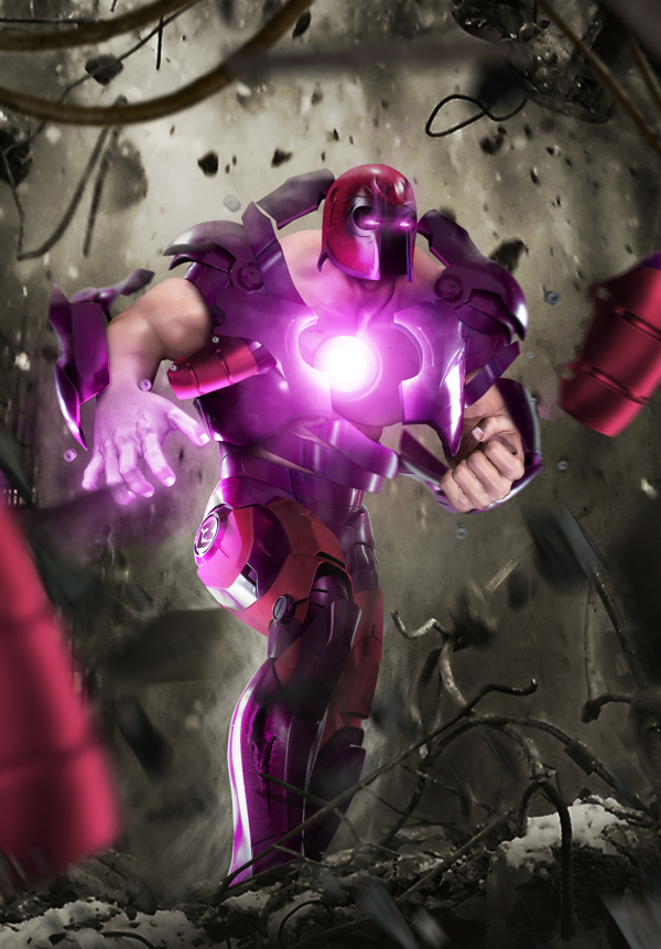 Iron Man and Magneto combined