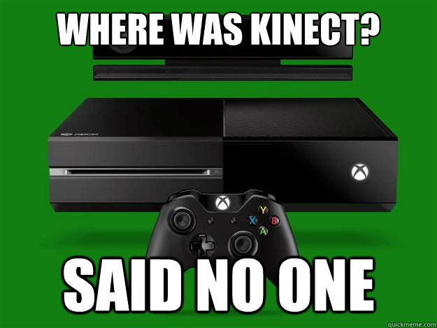 Kinect missing from conference