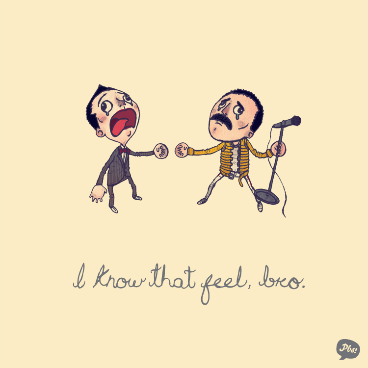 Pee Wee Herman and Freddie Mercury