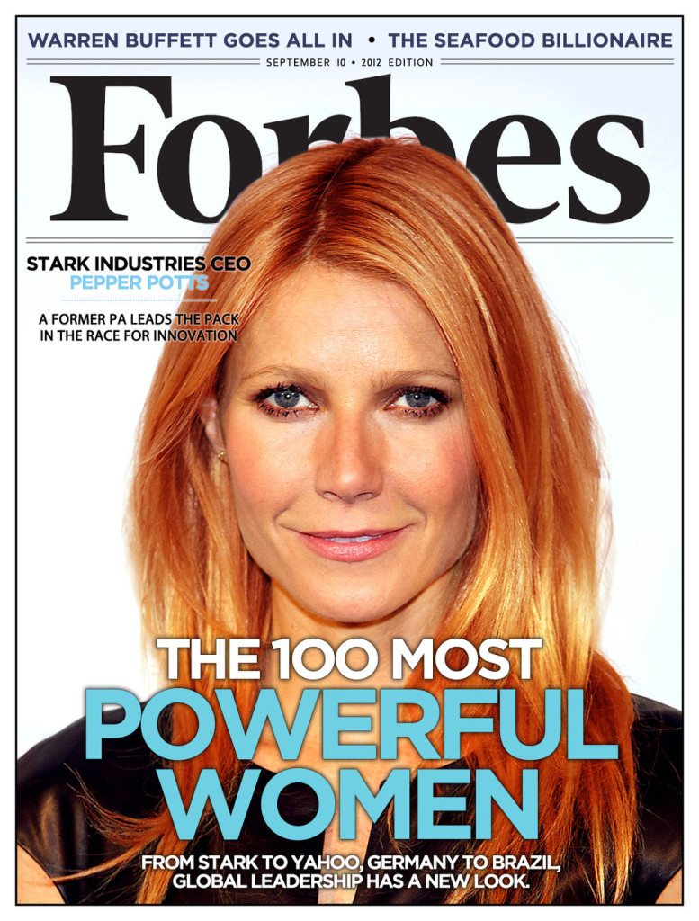 Pepper Potts Forbes cover