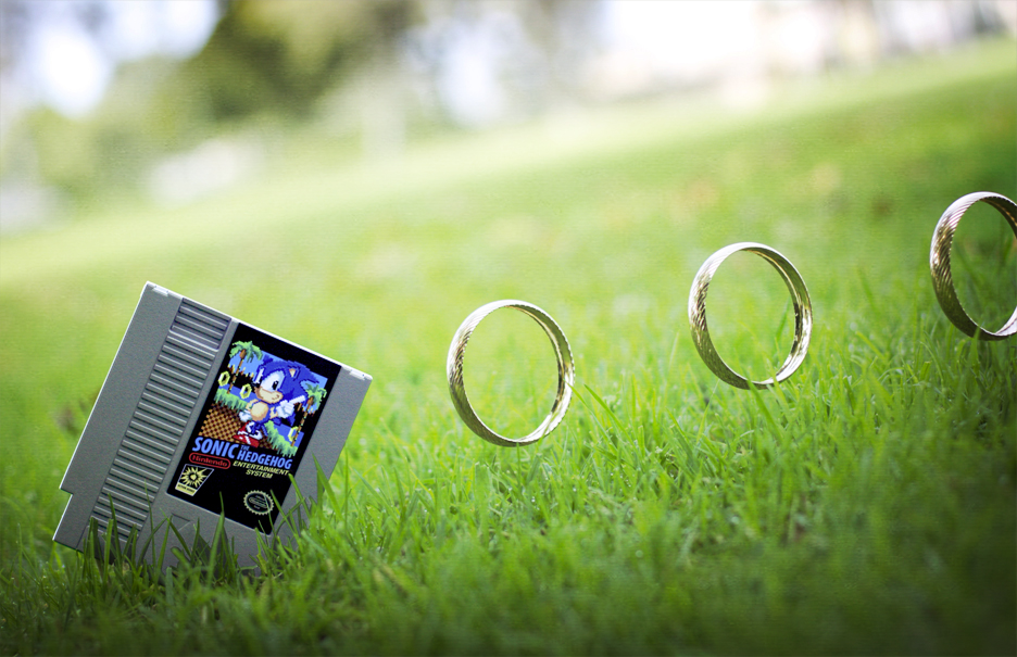 Sonic the Hedgehog with rings
