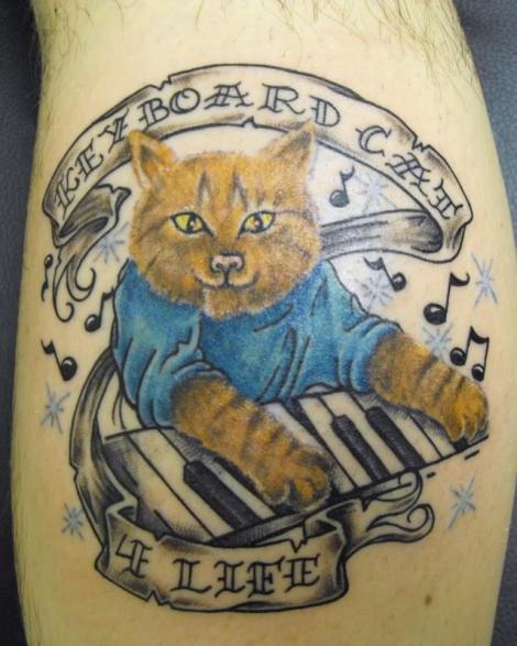 Pet Tattoos: Keyboard Cat