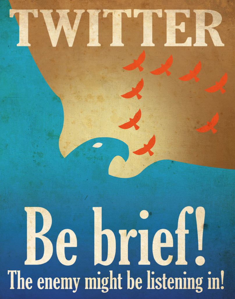 Twitter: Be brief!