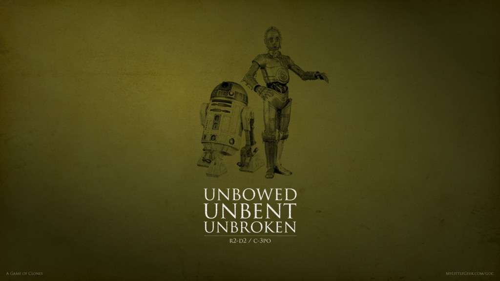 Unbowed Unbent and Unbroken: C3PO and R2-D2