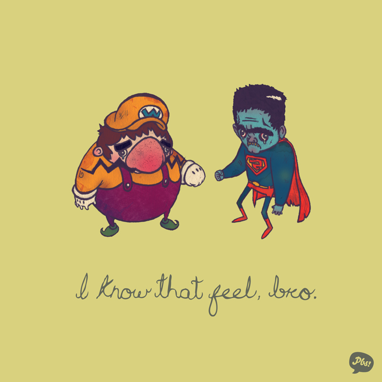 Wario and Bizarro
