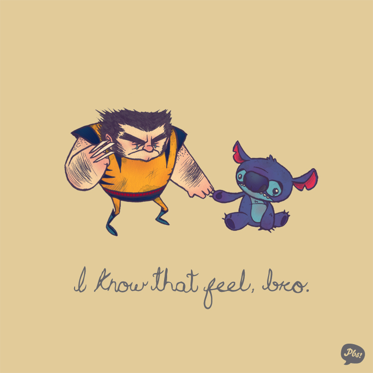 Wolverine and Stich