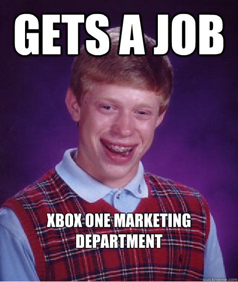 Gets a job xbox one marketing