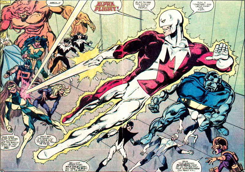 Alpha Flight comic book superheroes