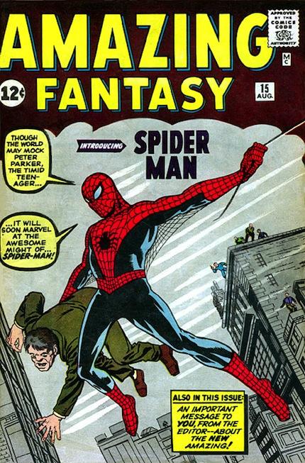 1962: Amazing Fantasy #15 (Jack Kirby/Steve Ditko)